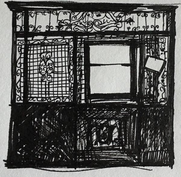 Antique elevator drawing