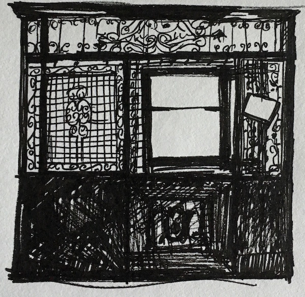 Antique elevator drawing