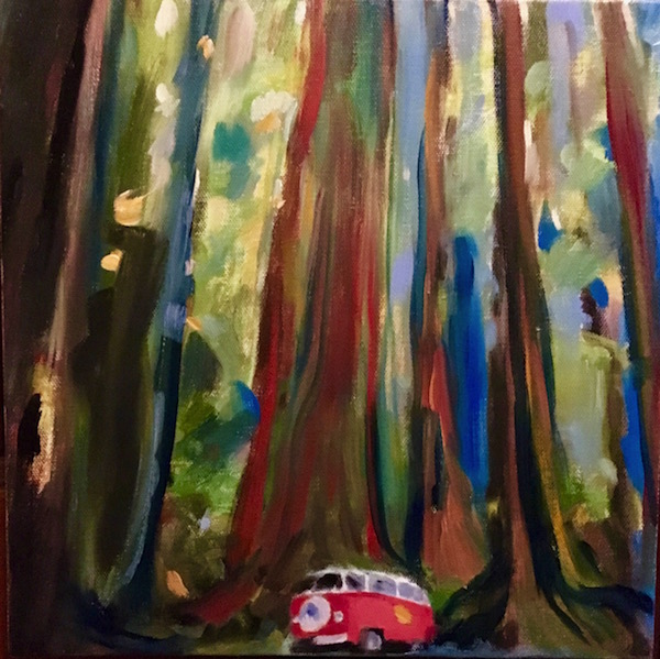 California Getaway Oil Painting by Paddy Hurley