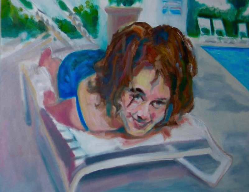 Amy Poolside, Oil on Canvas