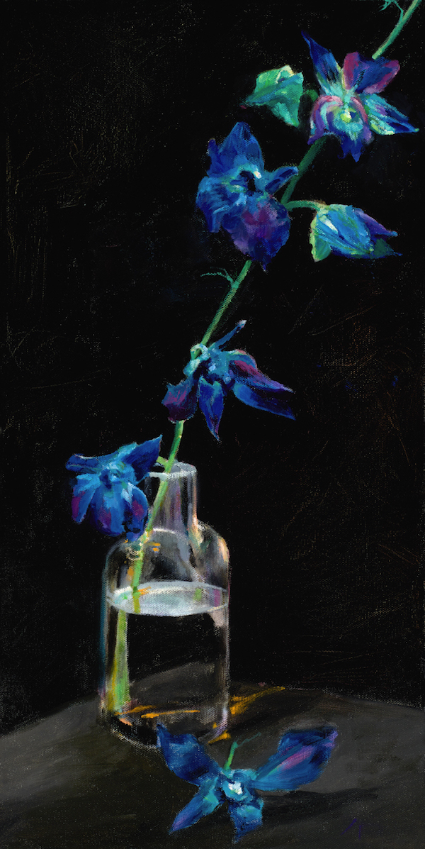 Blue Blooms painting by Paddy Hurley