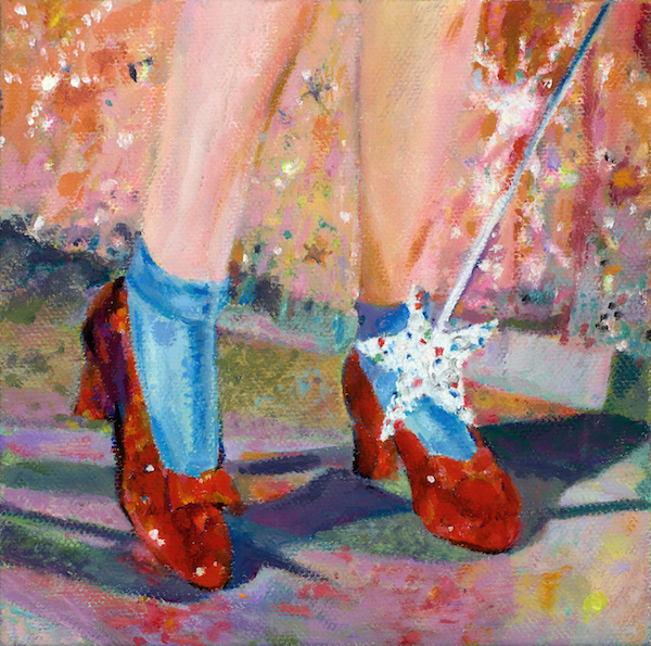 Ruby Red Slippers painting by Paddy Hurley